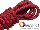 Heavy Duty Red Shoe / Boot Laces Made With Black Dupont™ Kevlar®
