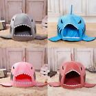 Shark Mouth Pet Dog Clothes Warm Sleeping Bag Puppy Soft Bed Kennel Cushion US