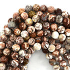 "Mexican Crazy Lace Agate Round Beads Gemstone 15"" Strand 4mm 6mm 8mm 10mm 12mm"