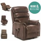 BUCKINGHAM ELECTRIC RISE RECLINER LEATHER AIR RISER SOFA ARMCHAIR LOUNGE CHAIR