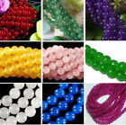 """4- 12mm Smooth Natural Round Jade Jewelry Making Loose Gemstone Beads 15""""aaa"""