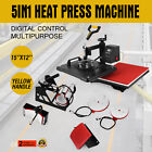Fabric Transfers - 12X15 15X15 5in1 6in1 8in1 Heat Press Transfer Machine Sublimation