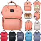 UK Mummy Backpack Baby Diaper Nappy Multifunctional Mommy Bags Changing Travel