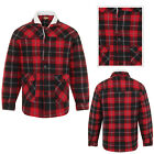 Bruno Galli Mens Check Fleece Lumberjack Button Up Jacket Casual Winter Outwear