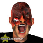 BULLET WOUND HALLOWEEN MASK DEAD ADULT HORROR GORY FACE FLESH SCAR FANCY DRESS