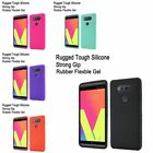 For LG V20 Rugged Rubber Silicone Skin Case Cover