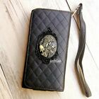 Gothic Skull phone Leather Pouch case Wallet Purse cover For iPhone 6 7 8 plus X