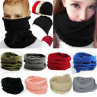 bandana mens - Womens Mens Warm Circle Cowl Neck Scarf Shawl Winter Thermal Fleece Snood Beanie