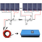 Home Grid Tie Solar System Roof Kit 100w 150w Solar Panel + 1000w  Inverter Home