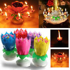 Birthday Candle Lotus Flower Blossom Musical Party Cake Topper Double-deck Magic