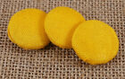 Decorative Round Rayon Fabric Covered Buttons 2 Holes Sewing Scrapbooking Craft