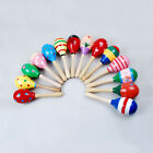 Rattle Shaker New Wooden Baby Kids Shaker Maracas Colorful Musical Instrument