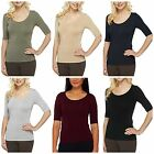Legacy Slim Disguise Shaper Tee with 3/4 Sleeves A214247