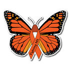 SET OF MULTIPLE SCLEROSIS MS AWARENESS BUTTERFLY STICKER DECAL OR MAGNET