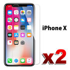 2X Premium Tempered Glass Screen Protector Film for Apple iPhone X 7 6S 8 8 Plus