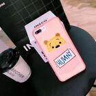 Cute New Cartoon Disney embroidery pocket card case Cover for iPhone 6S 7 8 Plus