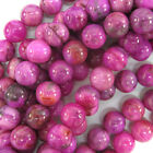 agate pink - Purple Pink Crazy Lace Agate Round Beads 15.5