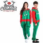 Unisex Mens Ladies Green ELF Red SANTA Christmas XMAS NoveltyAll In ONE Jumpsuit