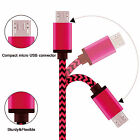 Micro USB Charger Charging Sync Data Cable Samsung Galaxy S3 S4 S5 S6 Android