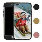 Vintage Christmas 360° Case & Tempered Glass Cover For iPhone - S4761