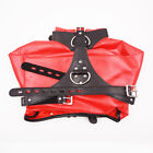 Faux Leather Open Breast  Arm Tied Behindable Restraints Bondage Jacket 3 Color