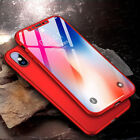 Us 360° Shcokproof Case For Iphone X Thin Slim Hard Cover+temper Glass Protecter