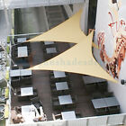 Sun Shade Sail Beige Right Triangle Permeable Canopy Lawn Patio Garden 8-24 KIT6