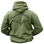 HEAVYWEIGHT PARACHUTE REGIMENT LOGO 270gsm COTTON/POLYESTER GREEN HOODIE,S-XXL