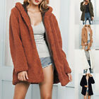 Women Winter Warm Thick Faux Fur Cardigan Hooded Coat Jacket Overcoat Outwear