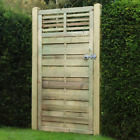Wooden Garden Gate - Flat Slatted Top - ELITE - FREE DELIVERY 50 MILES BOSTON