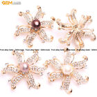 Womens Natural 9-10mm Pearl Rhinestone Beads Jewerly 46mm Brooch Christmas Gift