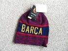 FC BARCELONA NIKE BEANIE football soccer calcio TAGS Skiing Winter REVERSIBLE