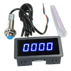 LED 4 Digital Tachometer RPM Speed Meter + NPN Hall Proximity Switch Sensor Hot
