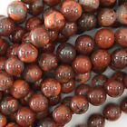 "Dark Poppy Jasper Round Beads Gemstone 15"" Strand 4mm 6mm 8mm 10mm 12mm"