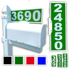 number plaque - Mailbox Address Plaque, Green Horizontal or Vertical, Reflective 911 Plate