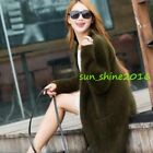 New Ladies Cardigan Mink Cashmere Cloak  Winter Sweaters Coat Party Parka Trench