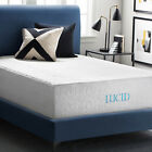 LUCID 16 inch Memory Foam and Latex Hybrid Mattress - 10 YEA