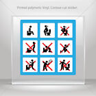 Decal Stickers Wc Rest Room Sign Toilet Bathroom Lavatory car  mtv W8X76