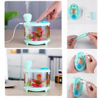 USB Fish Tank Humidifier Colorful Household LED Night Light Air Purifying US