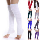 Fashion Women Girl Winter Long Leg Warmers Knit Crochet Stockings Socks