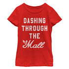 apple in macarthur mall - Lost Gods Christmas Dashing Through Mall Girls Graphic T Shirt