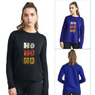 Brave Soul Womens Sequin HO HO HO Christmas Jumper Ladies Sparkly Festive Top
