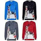 Womens Ladies Mens Unisex Double Rudolph Christmas Jumper Knitted Novelty Xmas