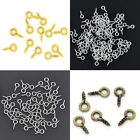 8mm x 4mm Screw Eye Bails Silver & Gold Plated Bronze Antique