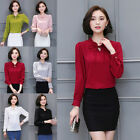 Summer Womens Ladies Long Sleeve Casual T-Shirt Tops Loose Blouse NEW 6-14