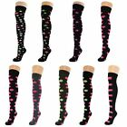 Womens Ladies Girls Over Knee Thigh High Patterned Socks Lot New