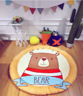 Extra Thick Large Baby Floor Rug Soft Activity Game Round kids Play Mat 150CM
