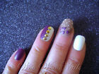 20 Painted False Nails Full Cover Press on Nails Matte Mocha Studs Floral Gold