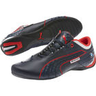 NEW MENS PUMA BMW FUTURE CAT M1 LEATHER SHOES TEAM NAVY BLUE RISK RED 305567 01