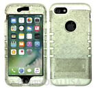 For Apple iPhone 8 & 8 Plus - KoolKase Hybrid Silicone Cover Case Glitter Clear
